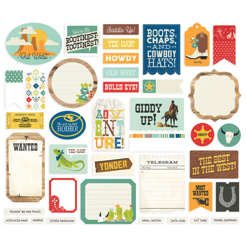 Simple Stories Howdy! Journal Bits & Pieces