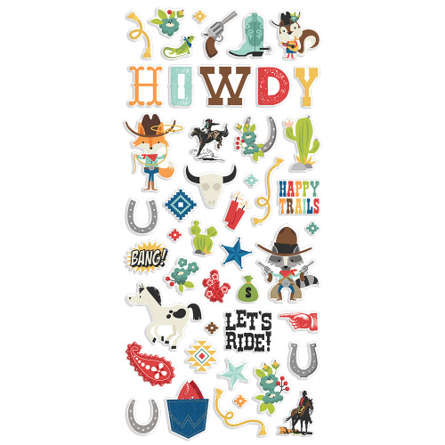 Simple Stories Howdy! Puffy Stickers