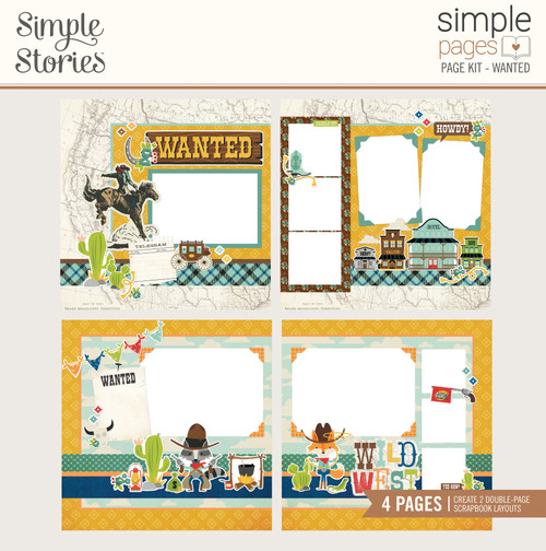 """Simple Stories """"Simple Pages"""" Page Kit: Wanted"""