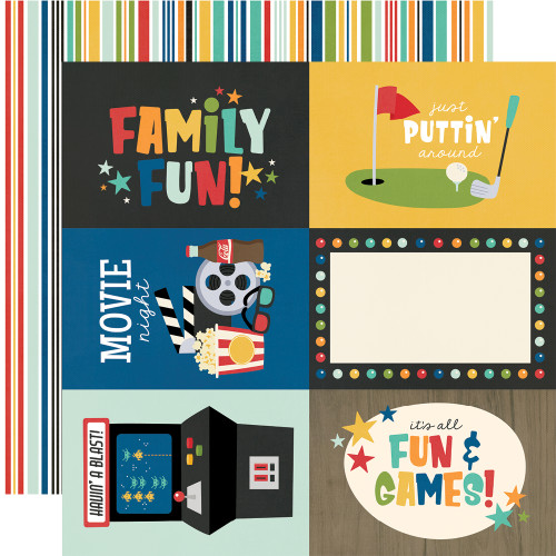 Simple Stories Family Fun 12x12 Paper: 4x6 Elements