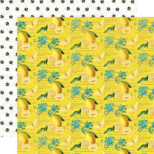 Simple Stories Simple Vintage Lemon Twist 12x12 Paper: Squeeze the Day