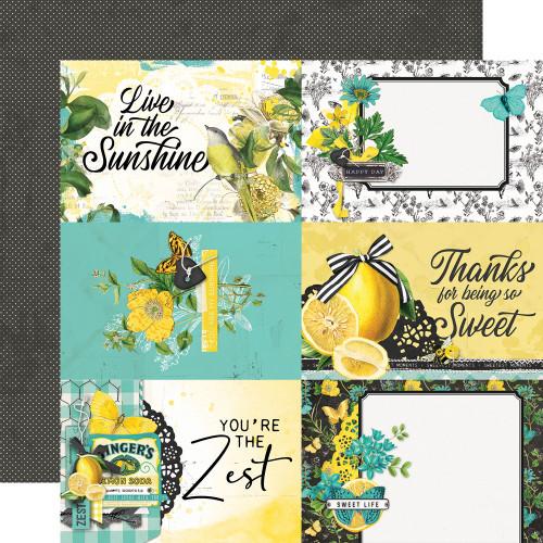 Simple Stories Simple Vintage Lemon Twist 12x12 Paper: 4x6 Elements
