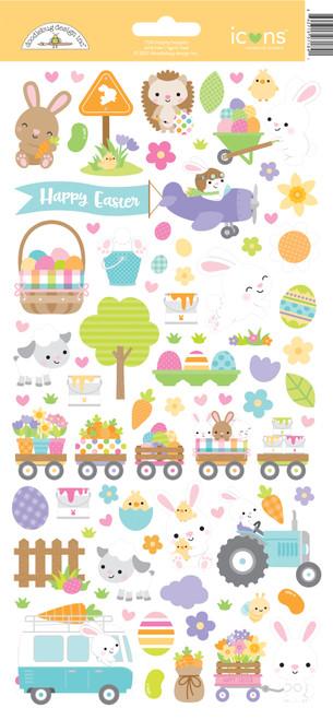 Doodlebug Hippity Hoppity Stickers: Icons
