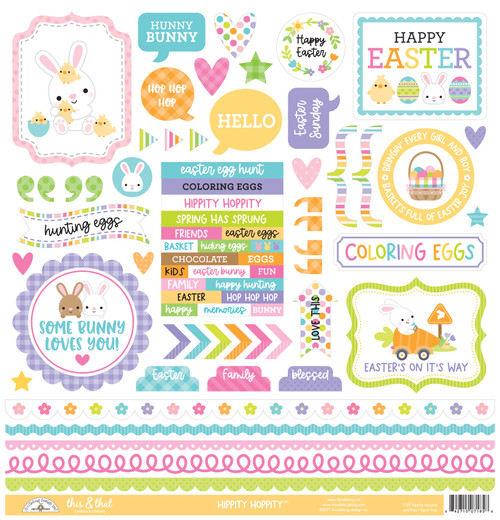 Doodlebug Hippity Hoppity Stickers: This & That