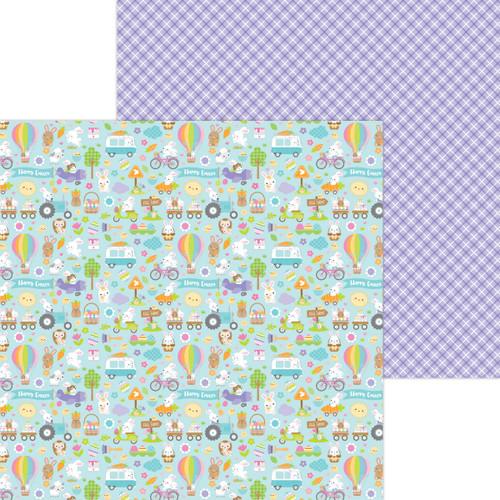 Doodlebug Hippity Hoppity 12x12 Paper: Hippity Hoppity