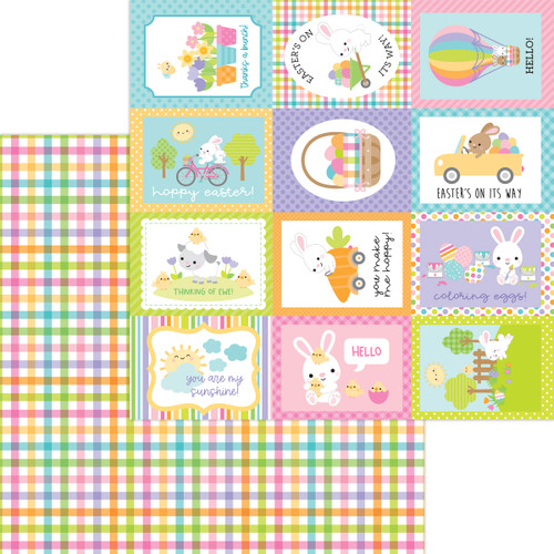 Doodlebug Hippity Hoppity 12x12 Paper: Easter Basket