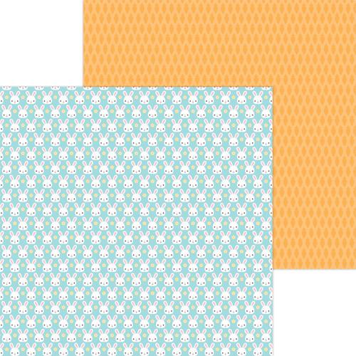 Doodlebug Hippity Hoppity 12x12 Paper: Mr. Cottontail