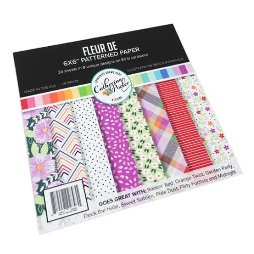 Catherine Pooler Designs 6x6 Paper Pad: Fleur De