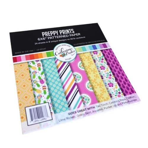 Catherine Pooler Designs 6x6 Paper Pad: Preppy Prints
