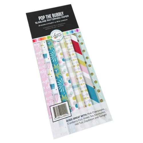 Catherine Pooler Designs 3.5x8.5 Slimline Paper Pad: Pop the Bubbly