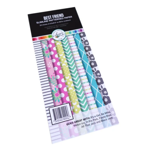 Catherine Pooler Designs 3.5x8.5 Slimline Paper Pad: Best Friend