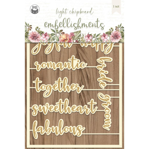 P13 Always & Forever Light Chipboard Embellishments