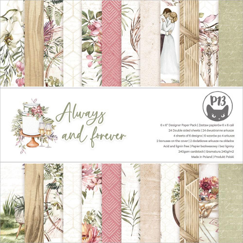 P13 6x6 Paper Pad: Always & Forever