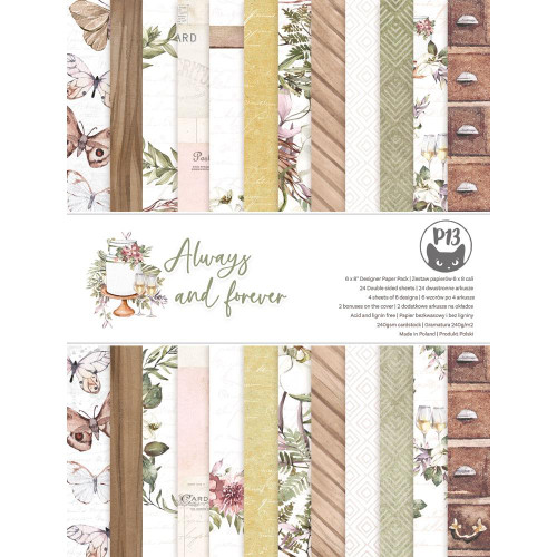 P13 6x8 Paper Pad: Always & Forever