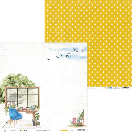 P13 Garden of Books 12x12 Paper: 01