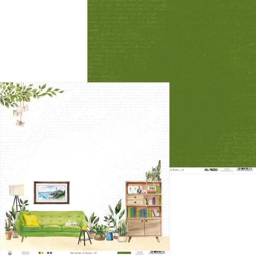 P13 Garden of Books 12x12 Paper: 03