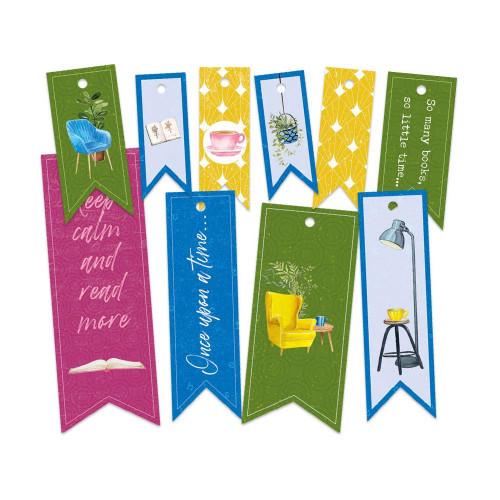 P13 Garden of Books Decorative Tags: Set 2