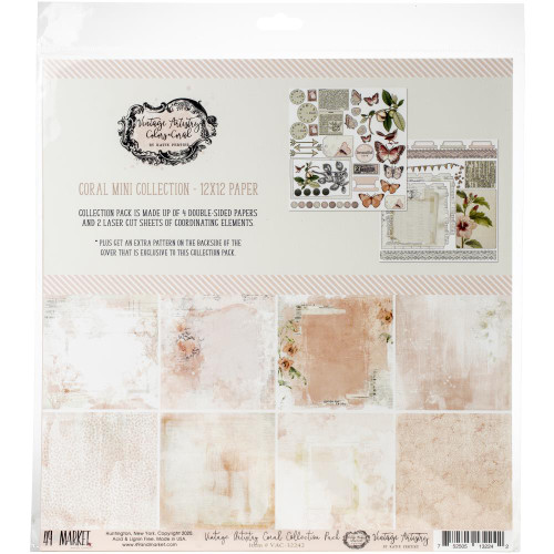 49 and Market Vintage Artistry 12x12 Collection Pack: Coral