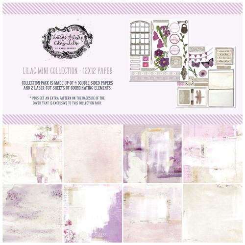 49 and Market Vintage Artistry 12x12 Collection Pack: Lilac