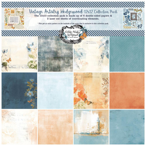49 and Market Vintage Artistry 12x12 Collection Pack: Wedgewood