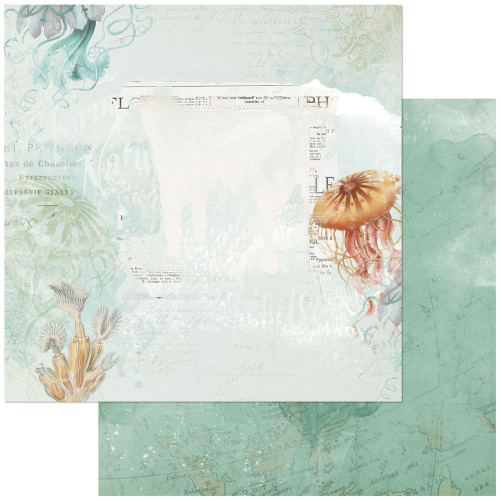 49 and Market Vintage Artistry 12x12 Paper: Shore | Barrier Reef