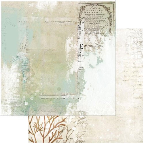 49 and Market Vintage Artistry 12x12 Paper: Shore | Tidepool