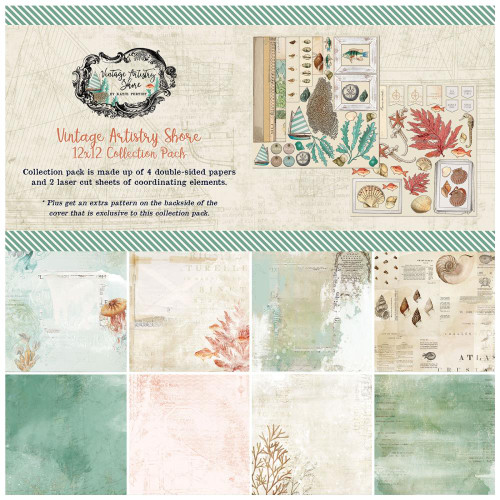 49 and Market Vintage Artistry 12x12 Collection Pack: Shore