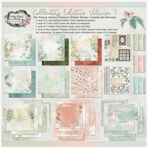 49 and Market Vintage Artistry 12x12 Collection Pack: In Color Collector's Edition Vol. 1