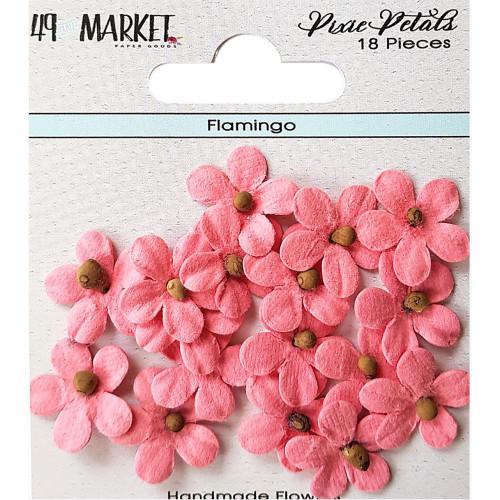 49 and Market Pixie Petal Handmade Flowers: Flamingo