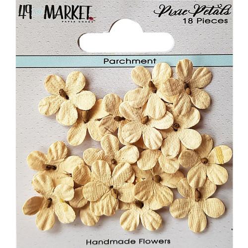 49 and Market Pixie Petal Handmade Flowers: Parchment
