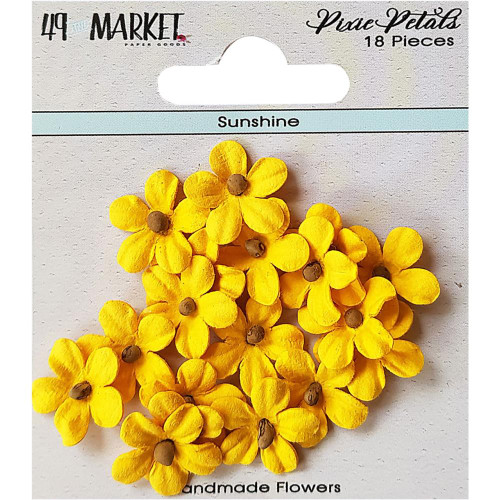 49 and Market Pixie Petal Handmade Flowers: Sunshine