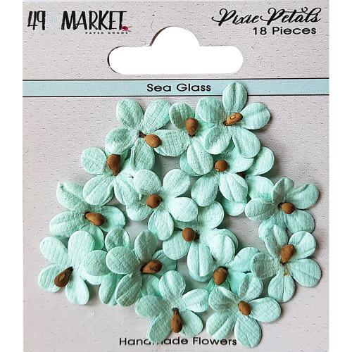 49 and Market Pixie Petal Handmade Flowers: Sea Glass