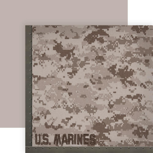 Paper House Productions 12x12 Military Paper: US Marines Camo
