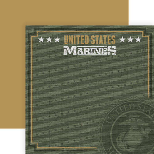 Paper House Productions 12x12 Military Paper: US Marines Emblem