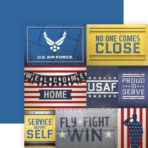 Paper House Productions 12x12 Military Paper: US Air Force Tags