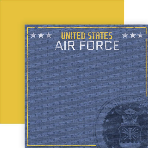 Paper House Productions 12x12 Military Paper: US Air Force Emblem