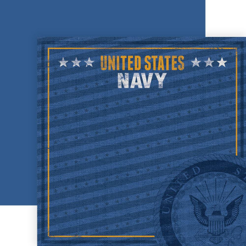 Paper House Productions 12x12 Military Paper: US Navy Emblem