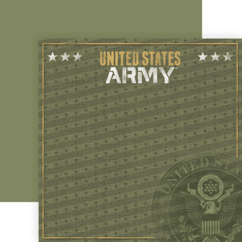 Paper House Productions 12x12 Military Paper: US Army Emblem