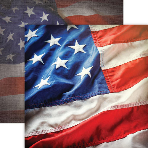 Paper House Productions 12x12 Military Paper: United States Flag