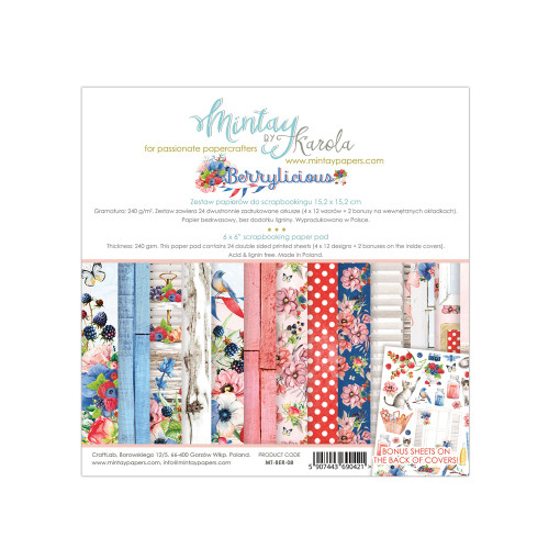 Mintay Papers Berrylicious 6x6 Paper Pad