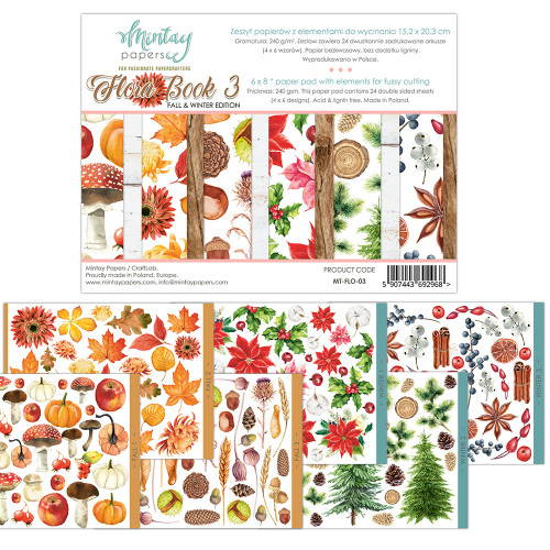 Mintay Papers Flora Book #3 6x8 Paper Pad