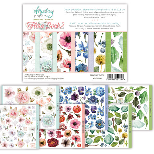 Mintay Papers Flora Book #2 6x8 Paper Pad