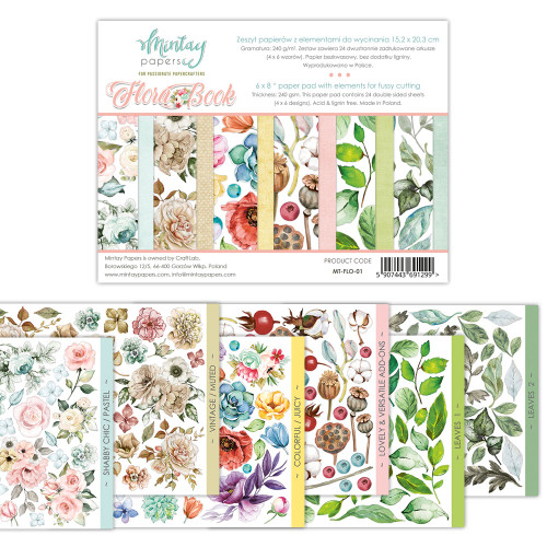 Mintay Papers Flora Book #1 6x8 Paper Pad