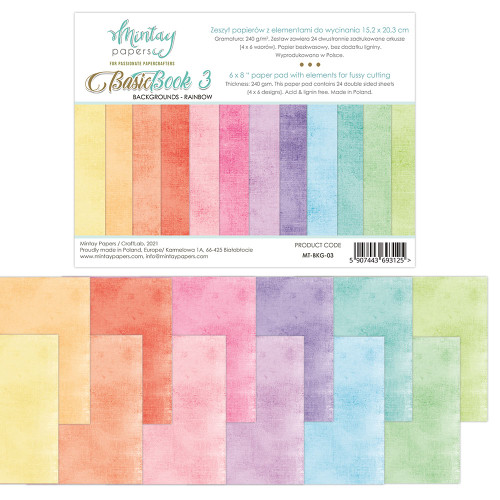 Mintay Papers Basic Book #3 6x8 Paper Pad