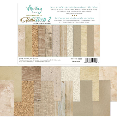 Mintay Papers Basic Book #2 6x8 Paper Pad