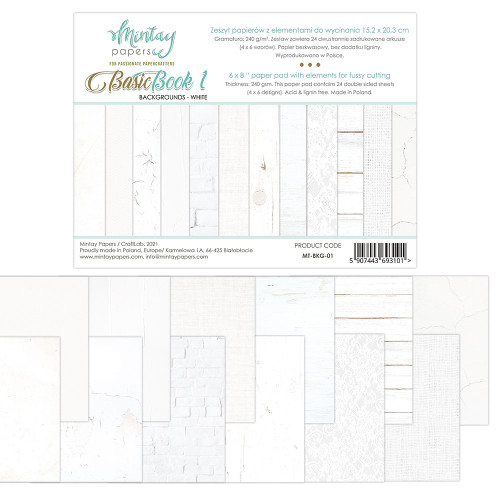 Mintay Papers Basic Book #1 6x8 Paper Pad