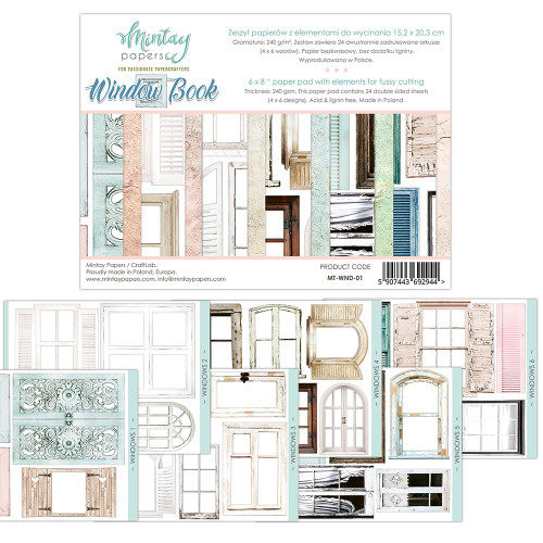 Mintay Papers Window Book 6x8 Paper Pad