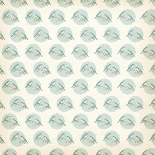 My Mind's Eye Wild Asparagus 12x12 Paper: Birdy