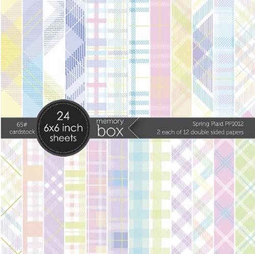 Memory Box 6x6 Paper Pad: Spring Plaid