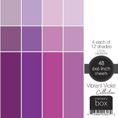 Memory Box 6x6 Cardstock Paper Pad: Vibrant Violet